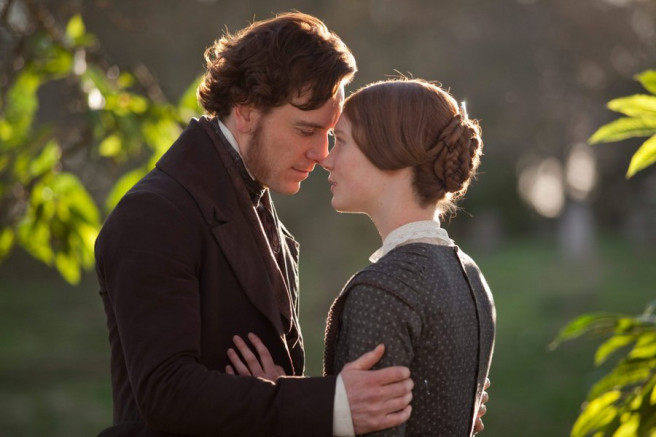 Picture of Michael Fassbender and Mia Wasikowska in scene from Jane Eyre movie