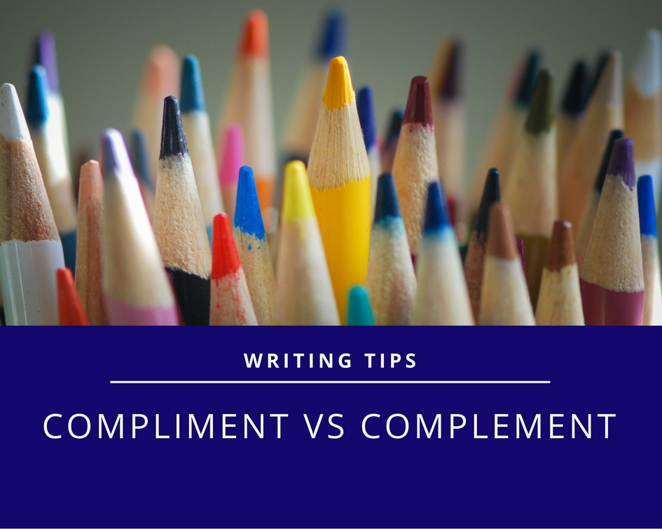 Picture of pencils to illustrate writing guide on use of compliment or complement