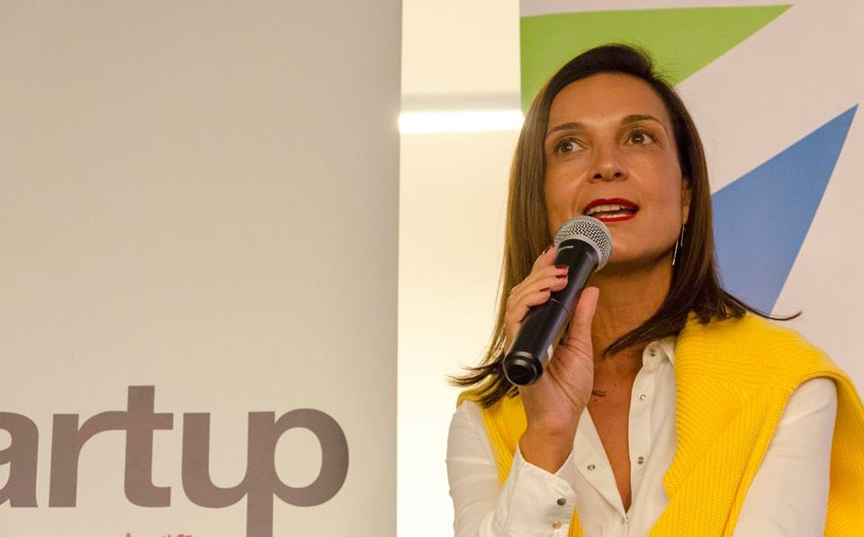 Nicolette De Freitas recounts her journey at Fish4Africa during a chat with Sandras Phiri at Startup Grind Cape Town on May 9, 2018